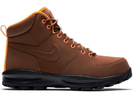 Original Botas Caminata Nike Acg Piel Manoa Cafe Suela Terra