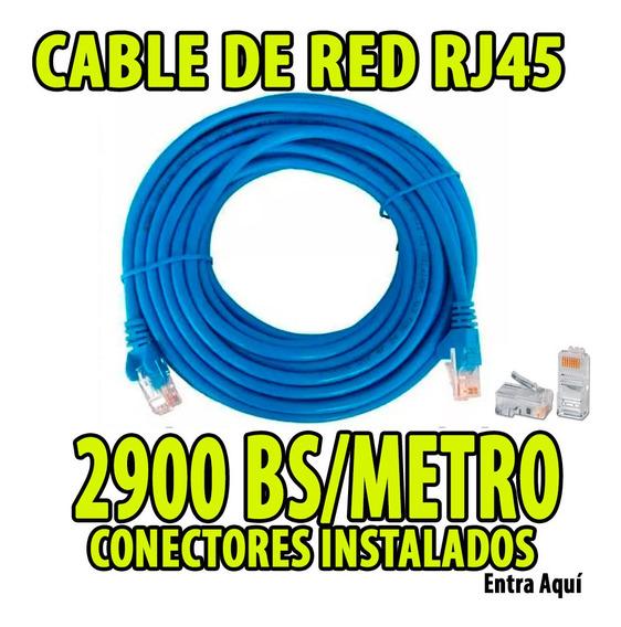Cable Utp Por Metro + Conectores Cat5e Cctv Redes Internet