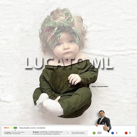 Macacão Verde Newborn Bebê Feminino - Medidas 3a Imagem | Ap