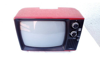 Televisor Portatil 12 Plg. B / N Japones Años 70s No Envio