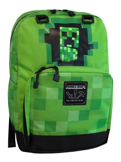 Mochila Minecraft-creeper Escolar