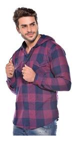 Camisa Masculina Flanelada Xadrez Adulto Casual Ref 006