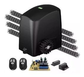 Kit Motor Portão Deslizante 1/5 Rcg 2 Controle 3 Cremalheira