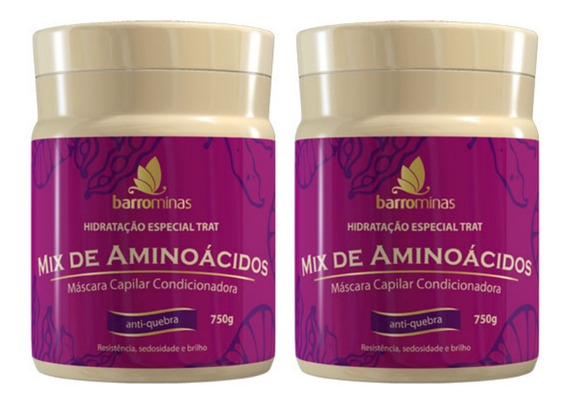 Creme Barrominas Mix De Aminoacidos 2 X 750g Edicao Limitada