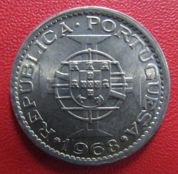 Cabo Verde Moneda 5 Escudos 1968 Unc Km 12
