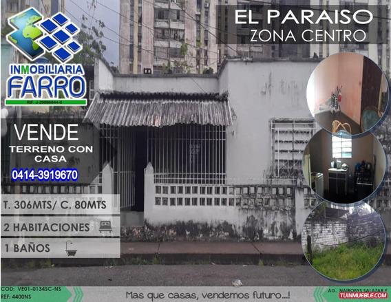 Venta De Terreno Con Casa, Sector El Paraiso Ve01-0134sc-ns
