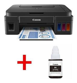 Impresora Multifunción Canon G3100 Con Botella Gi 190bk Adic