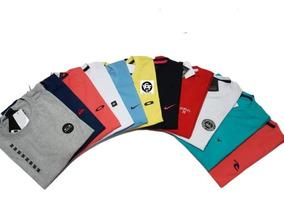 Kit 5 Camisetas Camisas Masculina Baratas Marcas Famosas