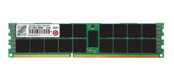 Memoria Ram 32gb Transcend Jet Ddr3- 1600 Ecc Registered 4rx4 Para Mac Pro Late 2013 (ts32gjma334p)