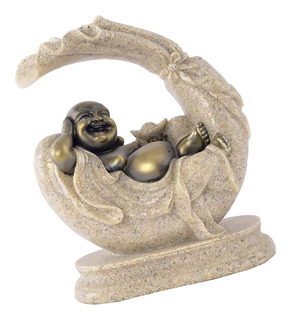Figura Decorativa De Arenisca Tallada A Mano Buda Maitreya