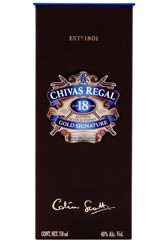 Imagen 1 de 2 de Botella De Whisky Scotch Chivas Regal 18 Años Escocia 750ml
