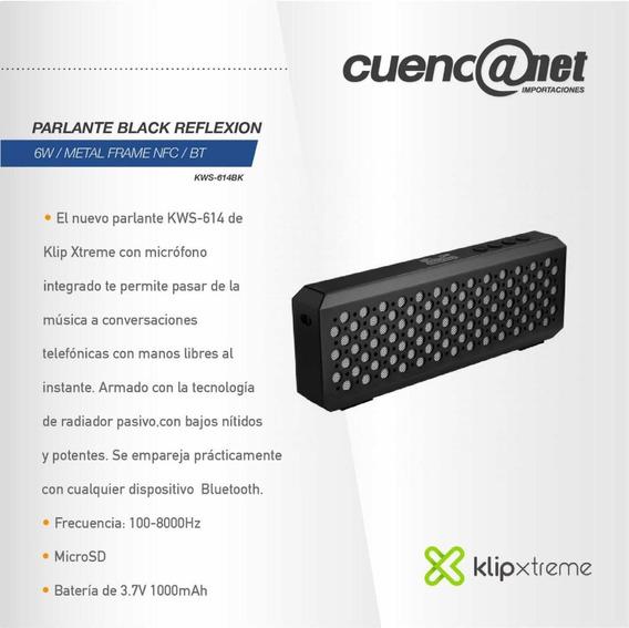Parlante Black Reflexion Klip Xtreme 6w Metal Bluetooth