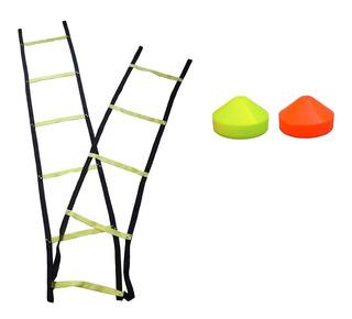 Set Escalera Coordinacion De 10 Escalones + 10 Conos Tortuga