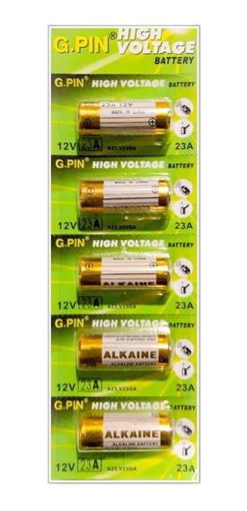 Cartela C/ 5 Mini Pilhas Alcalinas A23 12v