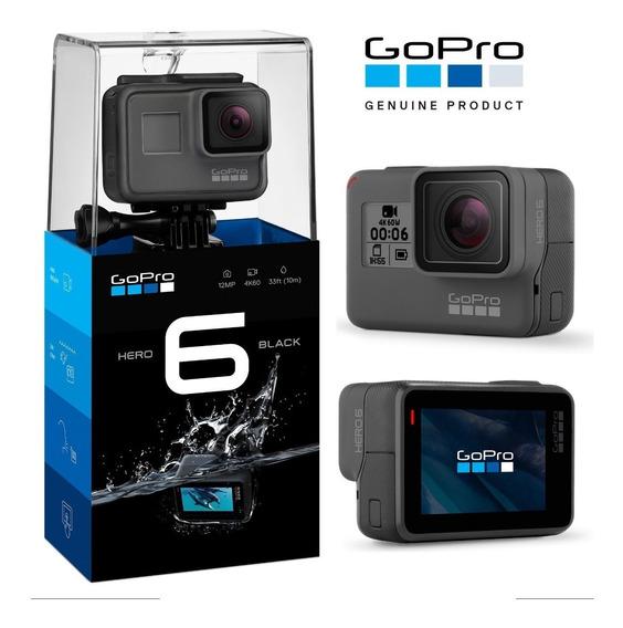 Câmera Ação Gopro Hero6 Black 4k60 Gps Bluetooth Chdhx-601