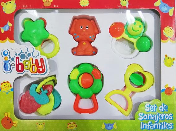 Set De Sonajeros Para Bebe Con 6 Chifles Baby