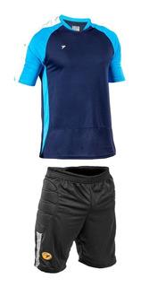 Kit Goleiro Poker Bermuda E Camisa Original Futebol