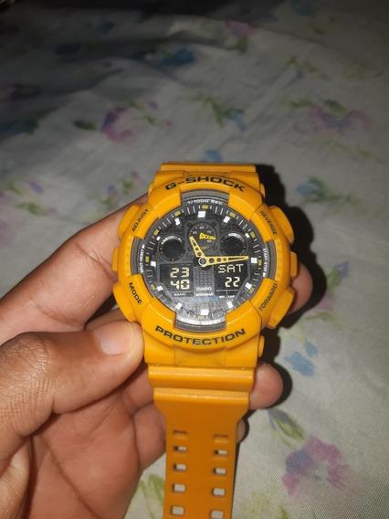 G-shock Ga 100 - Amarelo