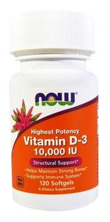 Vitamina D3 10.000 Ui 120 Softgel Now Foods Original