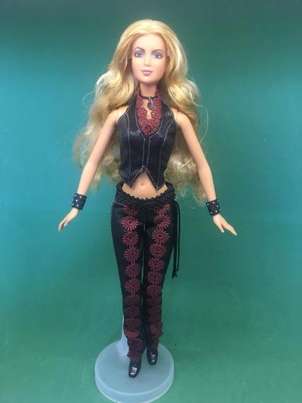 Boneca Shakira 2002 Mattel Barbie Cantora Sem Caixa