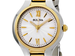 Relógio Bulova 98l217 Original, Tonalidade Prata E Ouro.