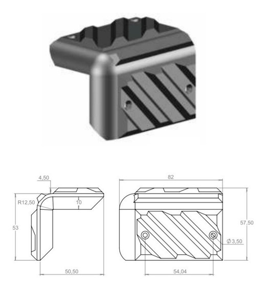 Cantoneira P/caixa De Som Acústico P/ Acabamento Kit Com 8