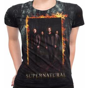 Camiseta Baby Look Serie Supernatural Sobrenatural Md05