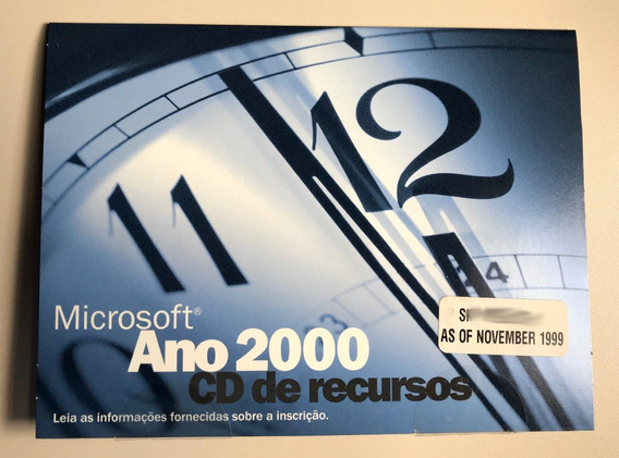 Cd Microsoft Ano 2000 (bug Do Milênio) Y2k