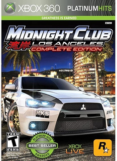Midnight Club Los Angeles Xbox 360 Midia Física