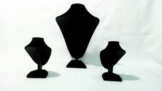 Exhibidor De Collar O Cadena 3 Piezas Negro