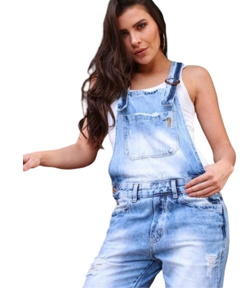 Macacão/jardineira Feminino Jeans Boy Destroyd-33.01.0014