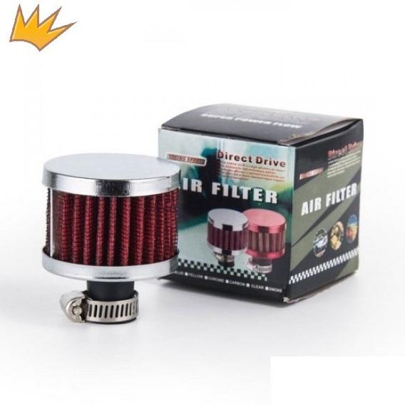 Filtro De Ar Para Respiro Entrada Com 11mm - Vermelho