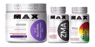 Combo Bcaa Drink 280g + Zma + Multimax - Max Titanium