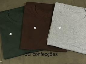 Kit 5 Camisetas Plus Size Básica Lisa 100% Algodão