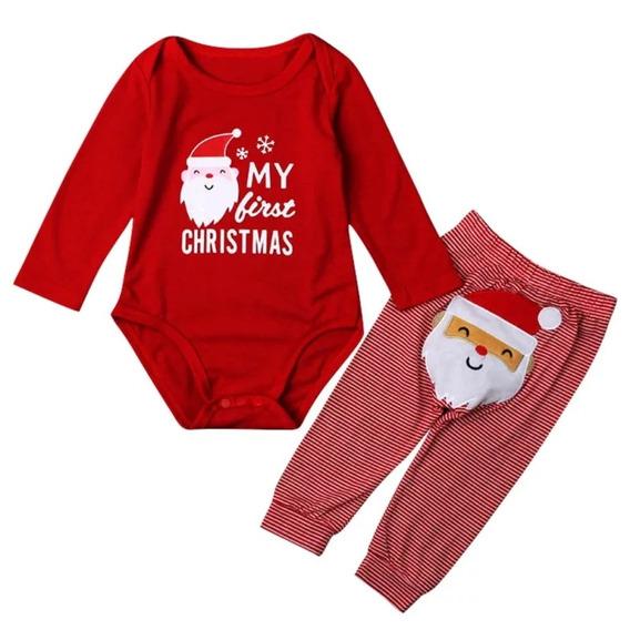 Traje/mameluco/pantalón Bebe Navidad My First Christmas