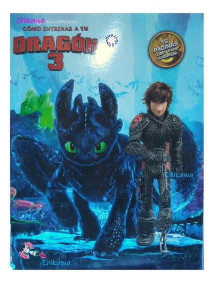 20 Libros Colorear Entrenando Dragon Tamaño Carta 16 Dibujos