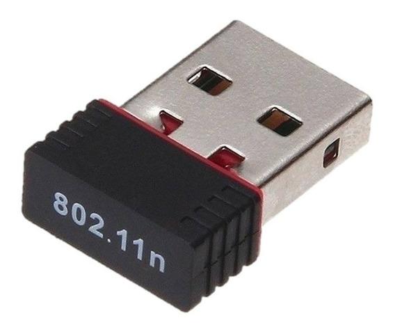 Antena Receptora Adaptador Mini Wifi Usb 150 Mbps Receptor