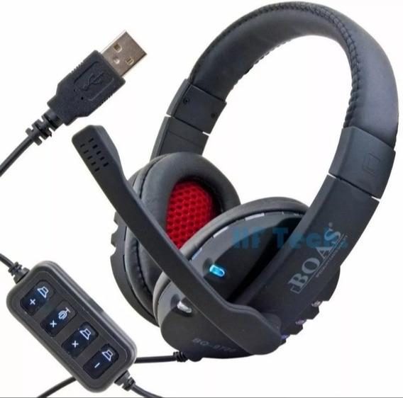 Kit 7 Headphone Boas Usb Led Atacado Headset Frete Gratis