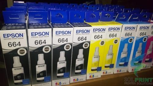 Tintas Epson Kit 4 Colores 664 504 544 Al Por Mayor Y Menor