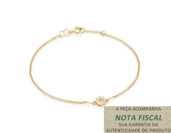 Pulseira Fio Elo Português F. Ouro Rommanel 551428