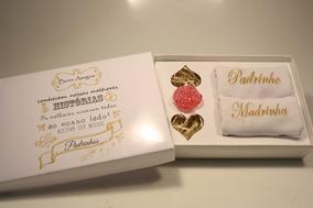 Casamento Convite Padrinhos Histórias Com 2 Toalhas 7 Unid