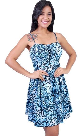 Vestido Feminino Estampado Onça Valentina - Asya Fashion