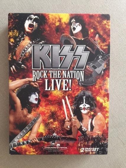 Box 2 Dvds - Kiss - Rock The Nation Live - Original
