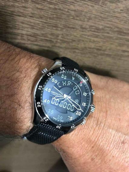 Hamilton Flight Timer Chronograph Black Dial - H645540