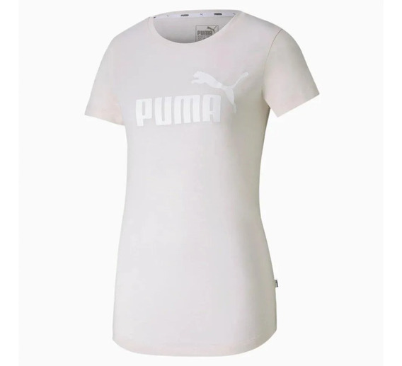Camiseta Blusa Puma Essentials Heather Tee Rosa 852127 17