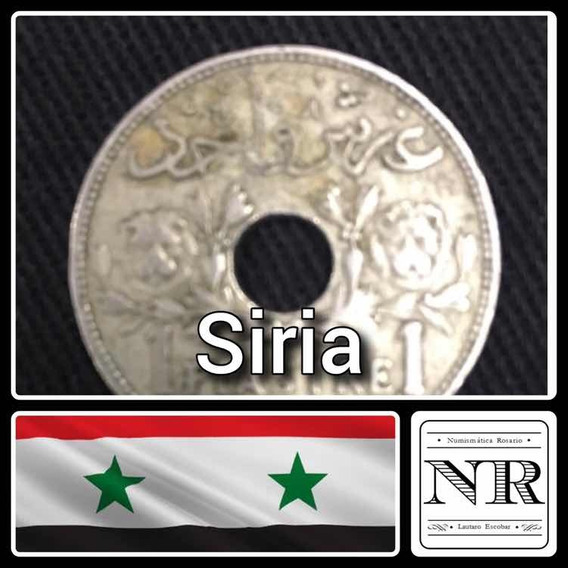 Siria - 1 Piastre - Año 1929 - Moneda - Agujereada