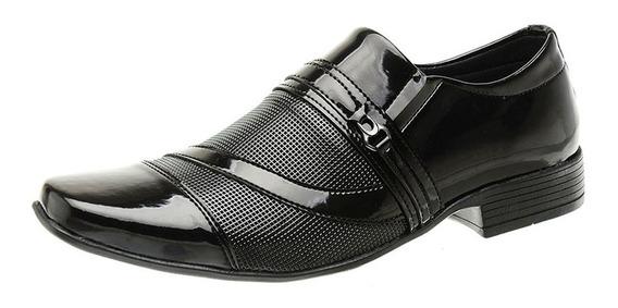 Sapato Social Masculino Couro Envernizado Sanlorenzo Cf