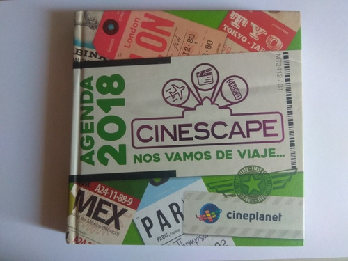 Imagen 1 de 3 de Agenda Cinescape 2018 Como Nueva Original