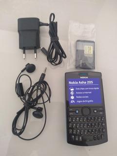 Celular Nokia Asha 205 Dual Sim+ Bluetooth+ Redes Sociais