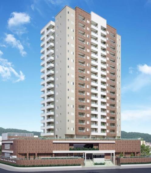 Apartamento Para Venda Em Praia Grande, Vila Caiçara, 1 Dormitório, 1 Suíte, 1 Banheiro, 1 Vaga - Ap00006